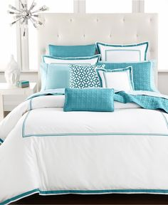 Effigy of Turquoise and White Bedding Set Product Selections
