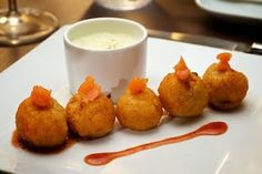 Salmon Croquettes with Damn Hot Guava Sauce
