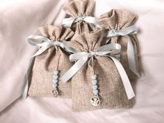tea for every moment Baby Shower Parties, Baby Boy Shower, Baby Boy Favors, Happy Jar, Lavender Bags, Wedding Gifts For Guests, Burlap Crafts, Jute Bags, First Holy Communion