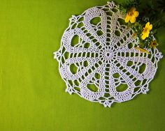 BUY 2 GET 3 Small beautiful doily with flower by Handicraftshed