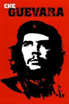 Jim Fitzpatrick, poster of Che Guevara, based on Alberto Korda's Guerrillero Heroico photograph. Red Wall Art, Red Art, Che Guevara Images, Pop Art Bilder, Art Rouge, Jim Fitzpatrick, Cuba History, Ernesto Che Guevara, Foto Poster