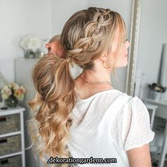 Frisuren | Pretty hairstyles, Hair upstyles, Types of braids « frisurtrends