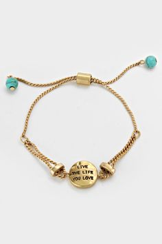 Live The Life You Love Bracelet | Women's Clothes, Casual Dresses, Fashion Earrings & Accessories | Emma Stine Limited