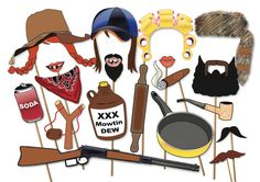 Hillbilly Redneck Photo booth Props Party Set  von TheQuirkyQuail