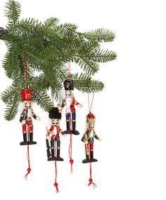 Jumping Jack Nutcracker Ornament Set