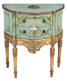 Buy online, view images and see past prices for A Continental green painted and parcel gilt petit commode , century. Invaluable is the world's largest marketplace for art, antiques, and collectibles. Dream Furniture, Furniture Redo, Living Furniture, Upcycled Furniture, Vintage Furniture, Chalk Paint Furniture, Hand Painted Furniture, Antique Cupboard, Modern Victorian