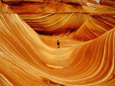 The Wave is a sandstone rock formation located in the United States of America near the Arizona-Utah border, on the slopes of the Coyote Butt...