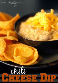This chili-cheese dip is one of the easiest dip recipes to make. It takes 5 minutes to prepare. Perfect for game day or movie night.