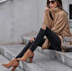 Amazing Winter Casual Outfits You Can Copy Now - Casual Winter Outfits Mode Outfits, Fashion Outfits, Womens Fashion, Fasion, Fashion Clothes, Casual Winter Outfits, Fall Outfits, Casual Dresses, Mode Punk