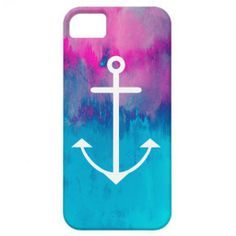 Purple and blue anchor phone case.