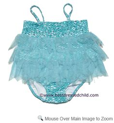 Kate mack Infant / Toddler Girls Maui Mermaid Two Piece Swimsuit - Aqua BLUE