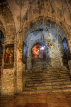 Jerusalem Church of the Holy Sepulchre my mother has been there and I would love to visit one day too