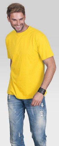 T-shirt męski PromoStars STANDARD bawełna żółty rL