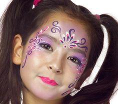 Grimtout, maquillage à l\u0027eau, princesse bella, étape 1