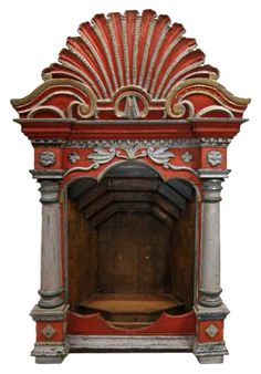 Indo-Portugese Altar Niche.  Freestanding, but quite exceptional.