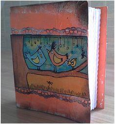 Junk Book Crazy Birds von SoulwingsHeaven auf Etsy, €15.00 Sims 2 House, Crazy Bird, Junk Journal, Toy Chest, Birds, Etsy, Handmade, Painting, Inspiration