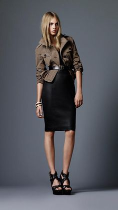 Burberry - LEATHER PENCIL SKIRT  I need a leather skirt :)
