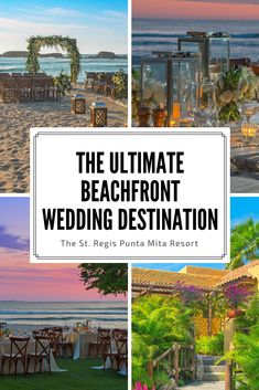 22 lush acres with incredible ocean views and stunning beaches make The St. Regis Punta Mita Resort the perfect place for a dreamy destination wedding. Mexico Beach Weddings, Wedding Mexico, St Regis Punta Mita, Mexico Resorts, Best Resorts, Ocean Views, Puerto Vallarta, The St, Villas
