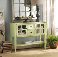 Green Elliot Console Table adds the perfect touch to satisfy the antique hunter in you. #kirklands #enterinstyle #console