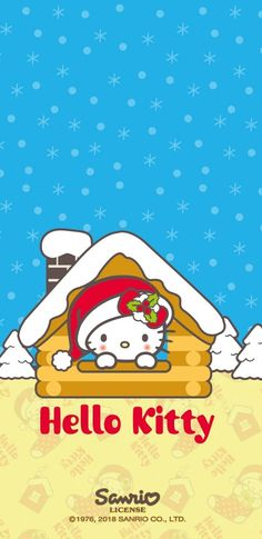 Hello Kitty Christmas Tree, Christmas Tree With Gifts, Christmas And New Year, Christmas Diy, Sanrio Wallpaper, Hello Kitty Wallpaper, Kawaii Wallpaper, Dreamcatcher Wallpaper, Sanrio Danshi