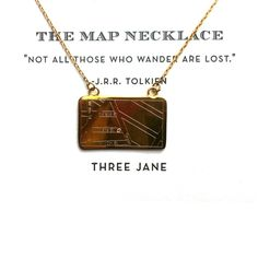 the map necklace - college student