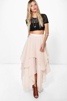 Party with your pins out in a statement evening skirt  Steal the spotlight this season in micro minis, of-the-moment midis and floor-sweeping maxi skirts. Whether you stick to separates or go matchy-matchy in a co-ord crop top, a skirt is the starting point to any stellar party look. For the new season, eveningwear gets earthy - take to the dance floor in decorative floral embroidery, or work whimsical nature motifs and give off a garden party vibe for going out.