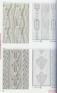 """Photo from album """"Knitting Patterns Book on Yandex. Lace Knitting Stitches, Knitting Charts, Knitting Designs, Knitting Projects, Baby Knitting, Stitch Patterns, Knitting Patterns, Crochet Patterns, Crochet For Kids"""