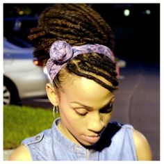 Locs updo.  Could work for clinicals. :: Shop Loc Accessories at DreadStop.Com