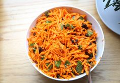 Carrot Mint Salad with Cumin and Currants