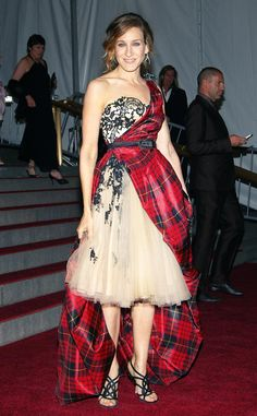"""May 1, 2006  Where: At the """"AngloMania"""" Costume Institute Gala at The Metropolitan Museum of Art in New York City.   What: Dress by Alexander McQueen."""
