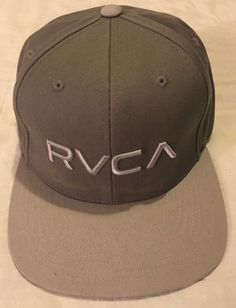 561cd84c3ef Mens Gray One Size Snapback RVCA VA Embroidered Baseball Style Cap Hat   fashion  clothing