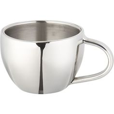 Stainless-Steel 4oz. Espresso Cup  | Crate and Barrel