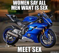 Triste mais un peu vrai - bikes - Motos Bike Meme, Bike Humor, Motorcycle Memes, Motorcycle Bike, Car Humor, Yamaha Bikes, Cool Motorcycles, Yamaha R1, Motocross Funny