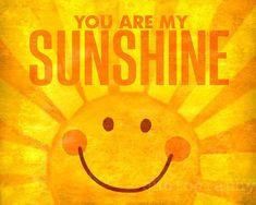 You Are My Sunshine - photo print - Bright Happy Yellow Orange Texture Poster Nursery Decor Wall Art Hello Sunshine, You Are My Sunshine, Sunshine Photos, Boy Girl Room, Sun Art, Good Morning Sunshine, Mellow Yellow, Cute Illustration, Quotable Quotes