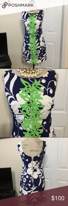 Lilly Pulitzer Johnny B Delia NWOT 2 Authentic Lilly Pulitzer Shift brand new without tags. The Johnny B Delia is a must have for your collection. I purchased this new and it's a little tight in the chest so I purchased a 4. Gorgeous dress! Lilly Pulitzer Dresses Midi