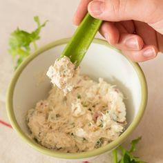 Radijsdip met gerookte makreel recept uit Landleven juni 2015.