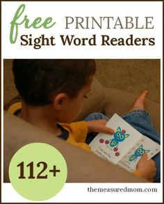free printable sight word readers 112+