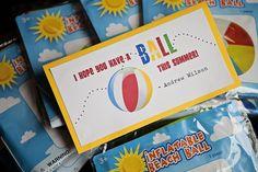End of School Year: Beach Ball Gift School Treats, School Gifts, Student Gifts, Teacher Gifts, Student Teacher, End Of School Year, End Of Year, School Fun, Classroom Treats