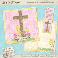 Easter Religious Cards  digital printable by songinmyheart on Etsy,