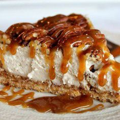 PECAN PIE CARAMEL CHEESECAKE...omg this might be it. right here. is that bad? @Heather McElhatton