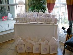 for all things creative!: All White Bridal Shower from Reader!