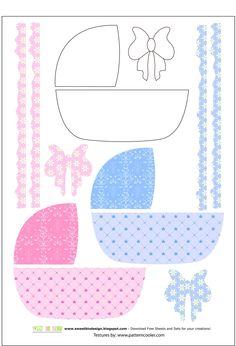 Sweet Bio design: Set Nascita baby scrapbooking - Born baby set