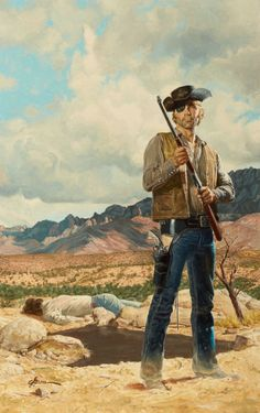 pulp western art | Pulp, Pulp-like, Digests, and Paperback Art, GEORGE GROSS (American ...