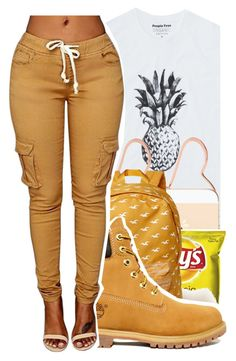 """""""I got gold digger money"""" by trapsoul4life ❤ liked on Polyvore featuring Erica Weiner, Hollister Co. and Timberland"""