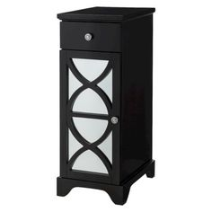 Beau Lattice Bathroom Floor Cabinet   Black (Target Online   Sale Price $88.99)