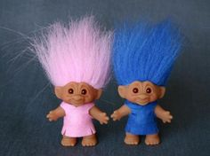 Every time I see a Troll Doll I think of my Dear childhood neighbor Emmy.she was Danish & had a little store on her front porch & sold them.Luv you Emmy!