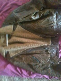 Brown Leather Jacket (Sheep skin lining) in Lena_Move's Garage Sale in Bremerton , WA for $60. I have a brown leather jacket with sheep skin lining light brown inside.  Size 42 still in very good condition.