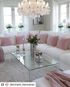 living Room with functional decoration to be inspired - ChecoPie Glam Living Room, Living Room Decor Cozy, Formal Living Rooms, Living Spaces, Small Living, Home Decor Shops, Luxury Living, Living Room Designs, Interior Design