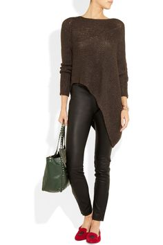 Valentino | Leather skinny pants | NET-A-PORTER.COM