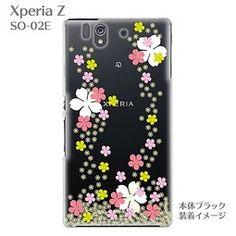 露天拍賣 日本究極!日本製【Sony Xperia Z SO-02E手機保護殼 背蓋 透明系列】櫻花2